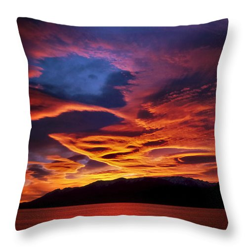 Patagonia Throw Pillow featuring the photograph Patagonian Sunrise by Joe Bonita