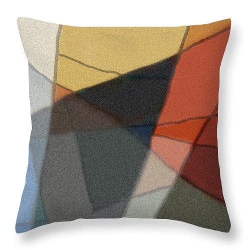 Abstract Throw Pillow featuring the digital art Patches In Harmony Abstract by Karla Beatty