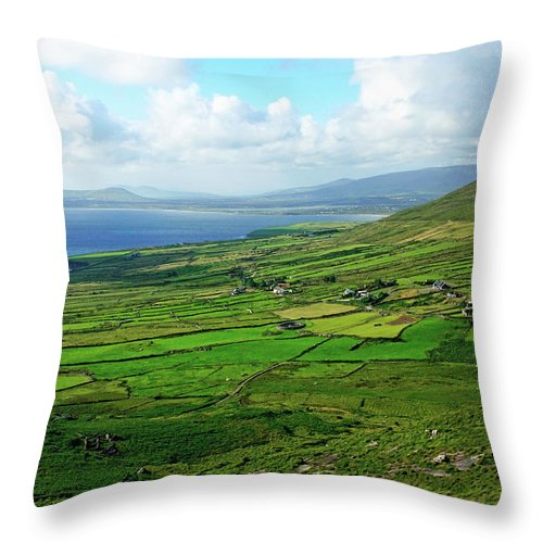 Ireland Throw Pillow featuring the photograph Patchwork Landscape by Aidan Moran