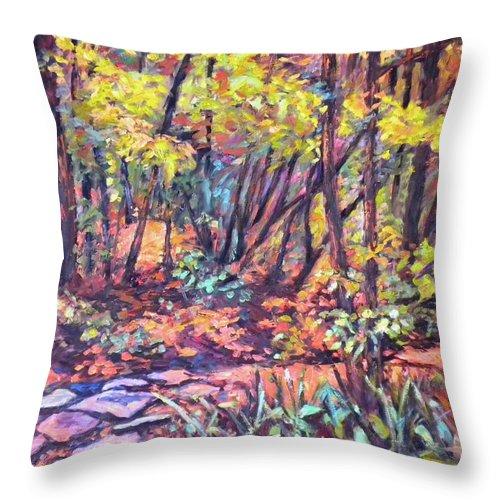Landscape Throw Pillow featuring the painting Path Near Pandapas by Kendall Kessler