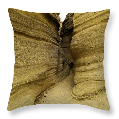 Desert Throw Pillow featuring the photograph Path Through The Tent Rocks by Jeff Swan