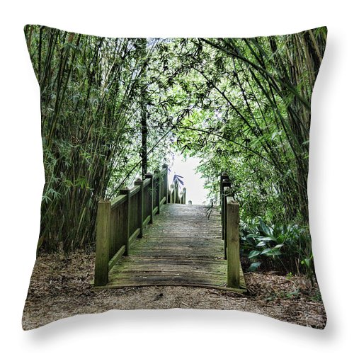 Landscape Throw Pillow featuring the photograph Path To Jefferson Lake Louisiana by Chuck Kuhn