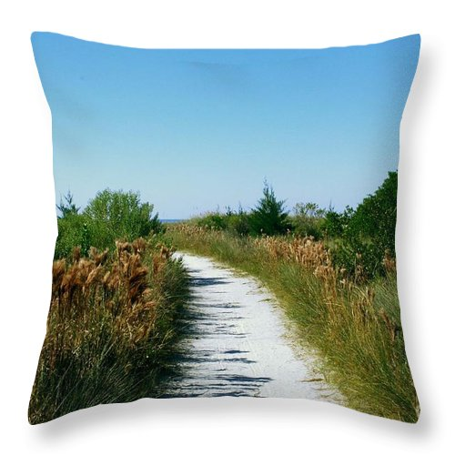 Sandy Path Throw Pillow featuring the photograph Path To Paradise by Gary Wonning