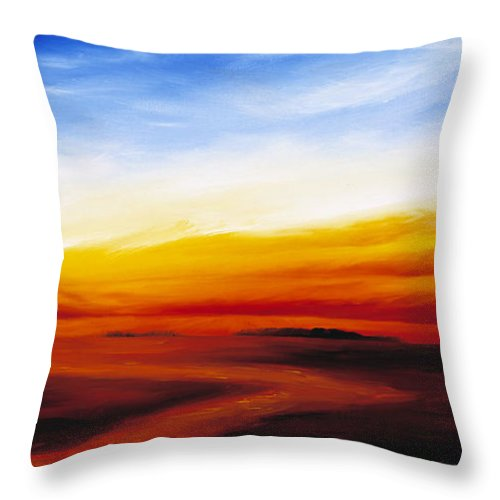 Sunrise Throw Pillow featuring the painting Path To Redemption by James Christopher Hill