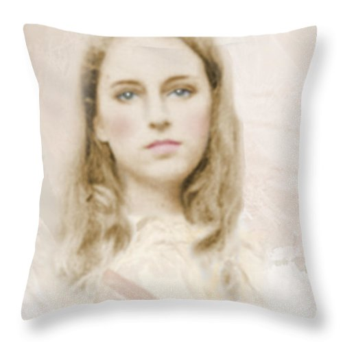 Portraits Throw Pillow featuring the photograph Pathos by Karen W Meyer