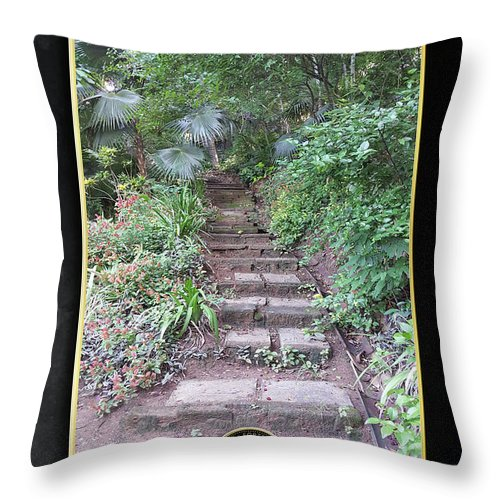 Pathways Throw Pillow featuring the digital art Pathways by Quintus Curtius