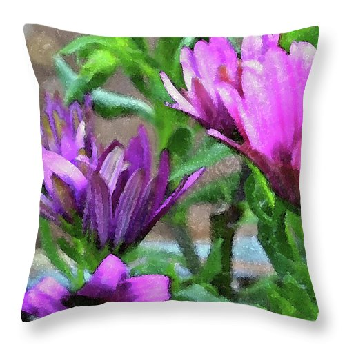 Flowers Throw Pillow featuring the photograph Patience by Bonnie Bruno