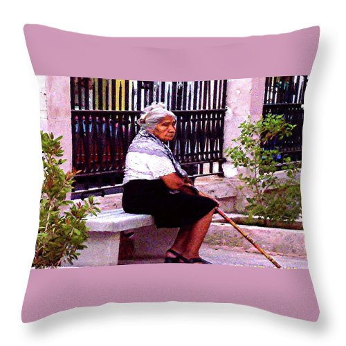 Mexico Throw Pillow featuring the photograph Patience by Linda Chambers