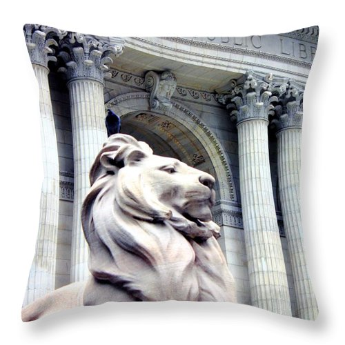 Patience Throw Pillow featuring the photograph Patience With Pigeon by Karin Kohlmeier