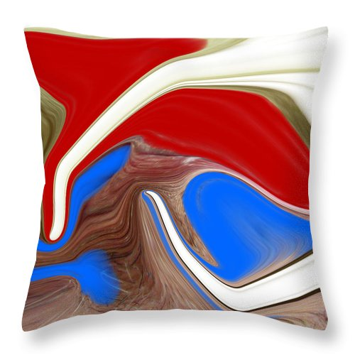 Abstract Throw Pillow featuring the photograph Patriot by Allan Hughes
