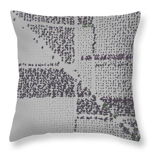 Pattern 55 Throw Pillow featuring the digital art Pattern 55 by Marko Sabotin