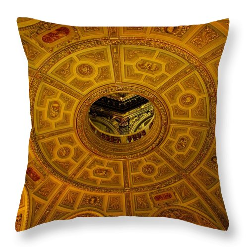 Ceiling Throw Pillow featuring the photograph Pattern by Ian MacDonald
