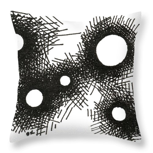 Patterns Throw Pillow featuring the drawing Patterns 1 2015 - Aceo by Joseph A Langley