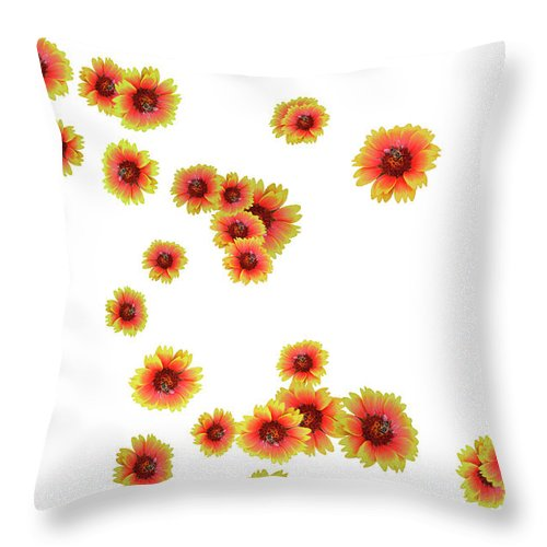 Flowers Throw Pillow featuring the photograph Patterns From Flowers by Elvira Ladocki