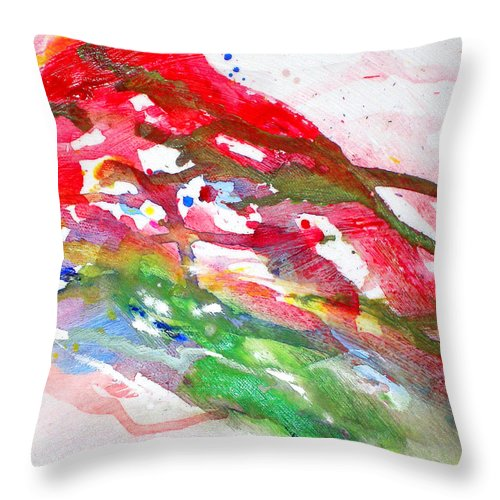 Paul Jenkins Throw Pillow featuring the painting Paul's Flight by Ken Meyer