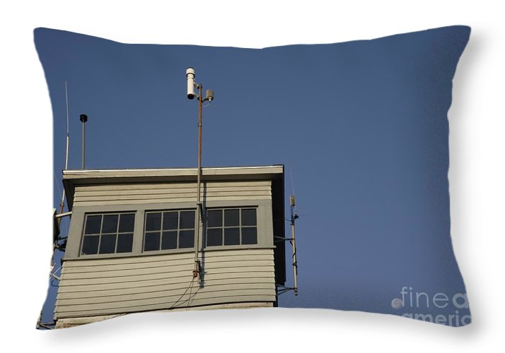 Firetower Throw Pillow featuring the photograph Pawtuckaway State Park - Nottingham New Hampshire Usa by Erin Paul Donovan