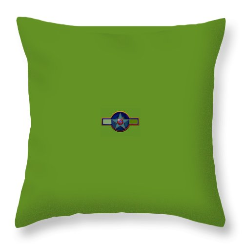 Usaaf Insignia Throw Pillow featuring the digital art Pax Americana Decal by Charles Stuart