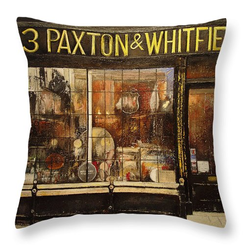 Paxton Throw Pillow featuring the painting Paxton Whitfield .london by Tomas Castano