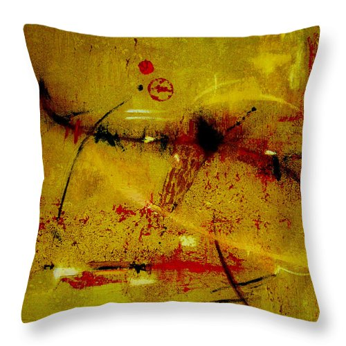 Abstract Throw Pillow featuring the painting Pay More Careful Attention by Ruth Palmer