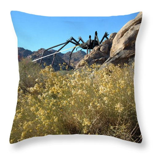 Spider Throw Pillow featuring the digital art Payback by Snake Jagger