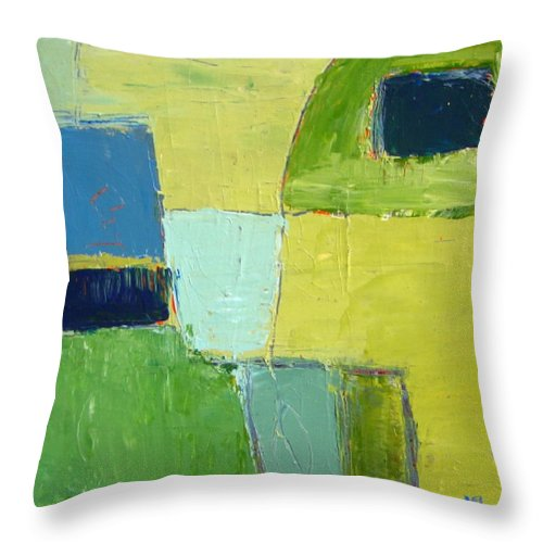 Abstract Throw Pillow featuring the painting Peace 1 by Habib Ayat