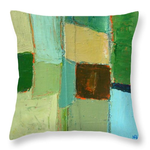Throw Pillow featuring the painting Peace 2 by Habib Ayat