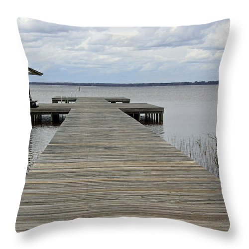 Lake Waccamaw Throw Pillow featuring the photograph Peace And Serenity II by Suzanne Gaff