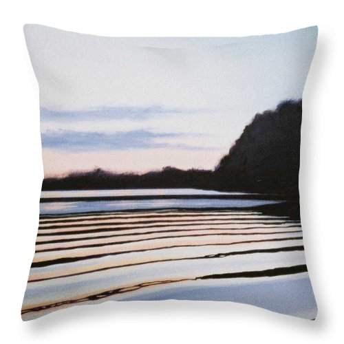 Peace Project Throw Pillow featuring the painting Peace by Hunter Jay
