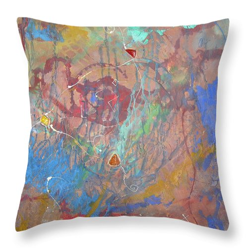 Modern Throw Pillow featuring the painting Peace In Motion by Frederic Payet