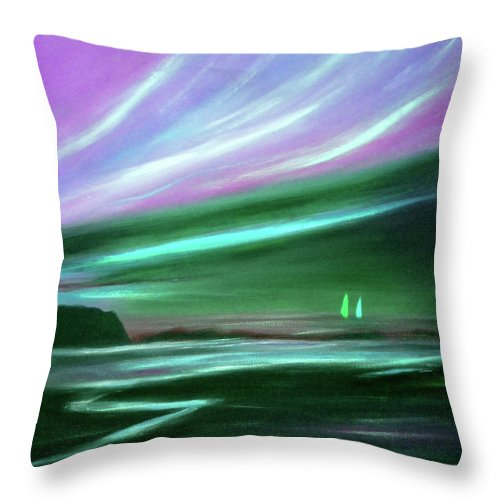 Brown Throw Pillow featuring the painting Peace Is Colorful 2 by Gina De Gorna