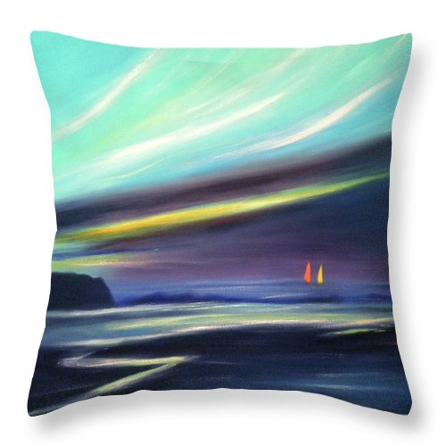 Brown Throw Pillow featuring the painting Peace Is Colorful 2 - Square by Gina De Gorna