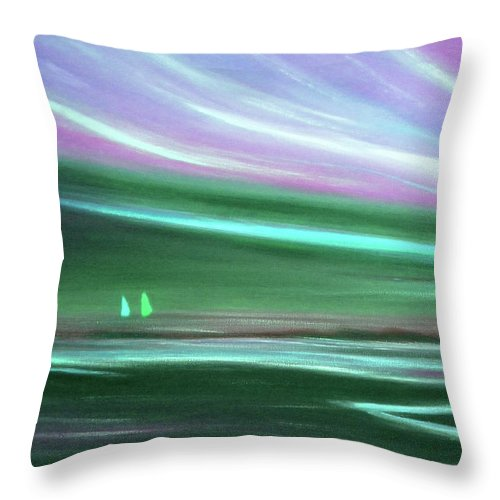 Brown Throw Pillow featuring the painting Peace Is Colorful 3 by Gina De Gorna