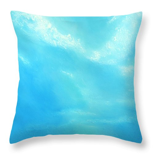 Blue Throw Pillow featuring the painting Peace by Jaison Cianelli