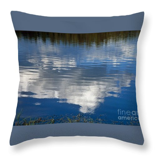 Landscape Throw Pillow featuring the photograph Peace by Kathy McClure