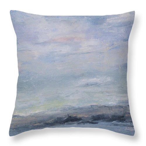 Sky Throw Pillow featuring the painting Peace by Patricia Caldwell