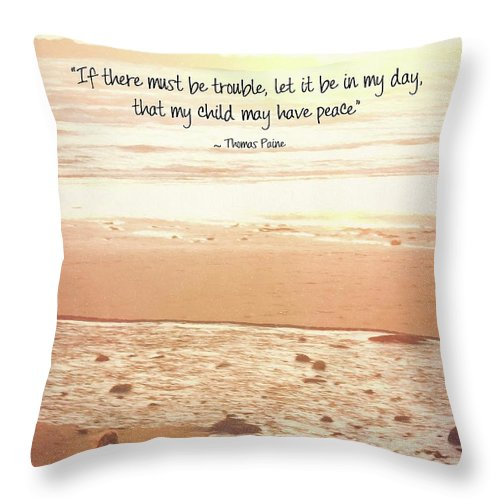 Peace Throw Pillow featuring the photograph Peace by Peggy Hughes