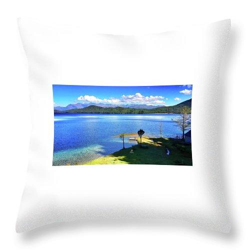 Lake Throw Pillow featuring the photograph Peace Rara Lake by Ryan Martin