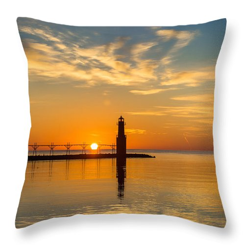Lighthouse Throw Pillow featuring the photograph Peace Unto You by Bill Pevlor