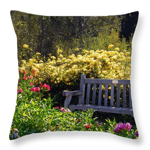 Flowers Throw Pillow featuring the photograph Peaceful by Amy Fose