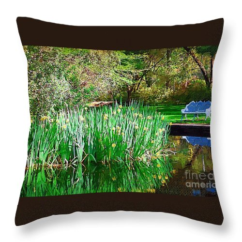 Pond Throw Pillow featuring the photograph Peaceful by Donna Bentley