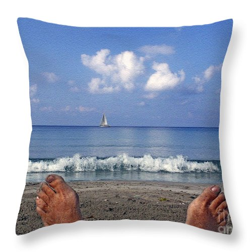 Sea Throw Pillow featuring the photograph Peaceful Existence by Dee Flouton