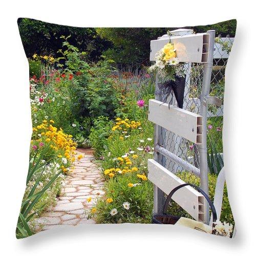 Garden Throw Pillow featuring the photograph Peaceful Garden by Amy Fose