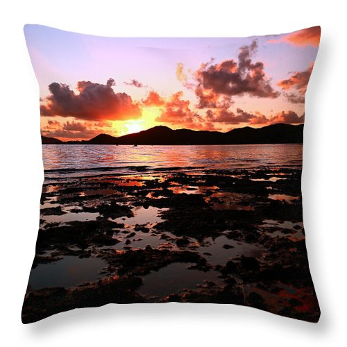 Beach Throw Pillow featuring the photograph Peaceful Getaway by Chris Topher
