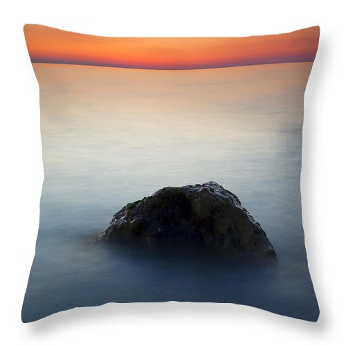 Rock Throw Pillow featuring the photograph Peaceful Isolation by Mike Dawson