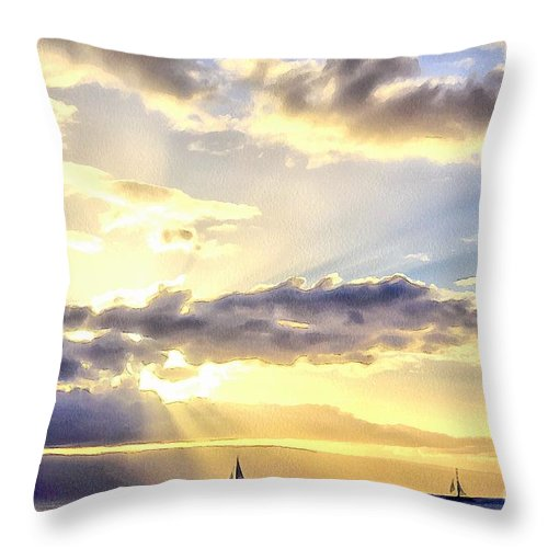 Maui Throw Pillow featuring the photograph Peaceful Journey by Krissy Katsimbras
