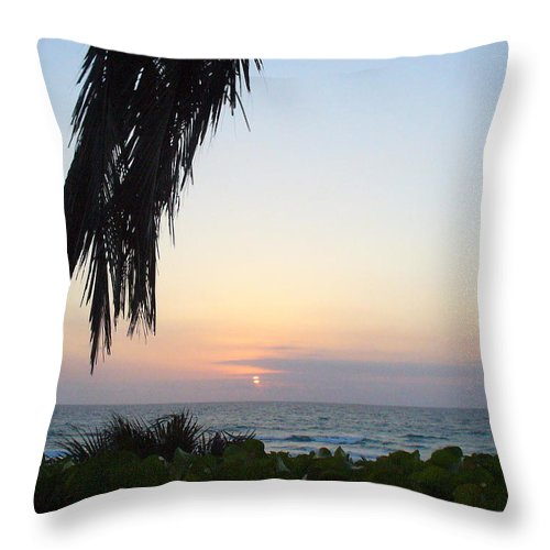 Ocean Throw Pillow featuring the photograph Peaceful Morning by Peggy King