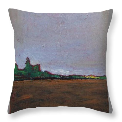 Landscape Throw Pillow featuring the painting Peaceful Place by Vesna Antic