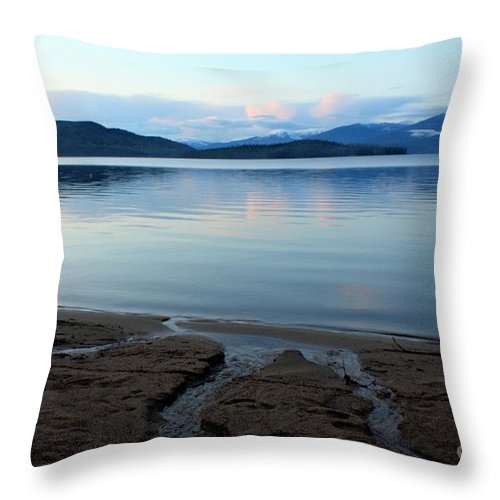 Beach Throw Pillow featuring the photograph Peaceful Priest Lake by Carol Groenen