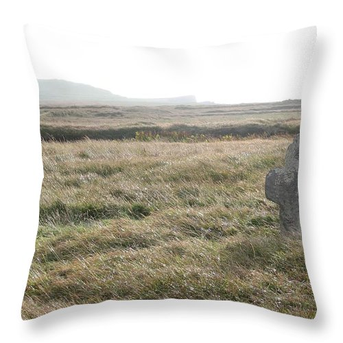 Midievil Throw Pillow featuring the photograph Peaceful Rest by Kelly Mezzapelle