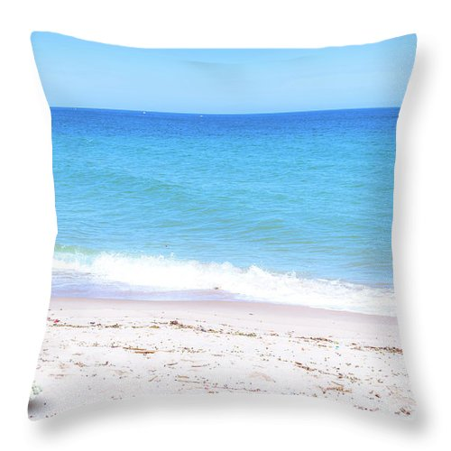 Summer Throw Pillow featuring the photograph Peaceful Sunny Day by Louloua Asgaraly